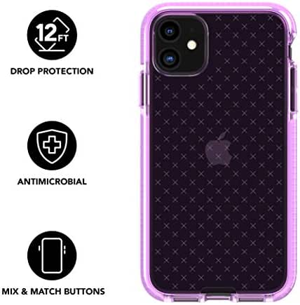 tech21 Evo Check Phone Case for Apple iPhone 11 - Antimicrobial Properties with 12ft Drop Protection, Orchid