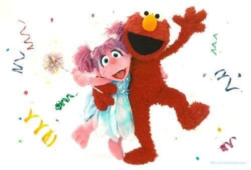 (Sesame Street Elmo & Abby Cadabby Birthday ~ Edible Image Cake, Cupcake Topper!!!)