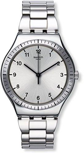 Swatch Reloj Digital para Mujer de Cuarzo con Correa en Acero Inoxidable YWS100G: Amazon.es: Relojes