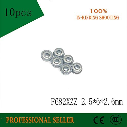 Ochoos 10 PCS F682XZZ 2.567.12.6mm ABEC-3 Miniature Flanged Ball Bearings for RC Hobby