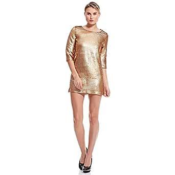 Amenapih Lara Straight Dress For Women - Gold