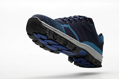 Ali Trabajo Entrenador ranspirables Acero Zapatos Zapatillas de Hombre tone Unisex S3 Zapatillas Seguridad con de Mujer Deportivos Azul02 Unisex Antideslizante Puntera de Ligeras Comodas de Senderismo 76x7rvn