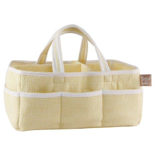 Trend Lab Gingham Seersucker Storage Caddy, Yellow