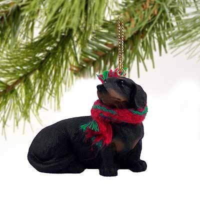 Used, 1 X Dachshund Miniature Dog Ornament - Black & Tan for sale  Delivered anywhere in USA