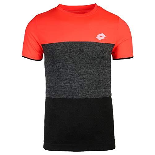 Lotto Camiseta Hombre pádel Tennis Tech tee. 210373 Coral/All Black. Talla M: Amazon.es: Deportes y aire libre