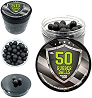 100x Hard Rubber Balls Paintballs for Training Shooting Home and Self Defense 50 Cal. HDR RAM T4E 50 R