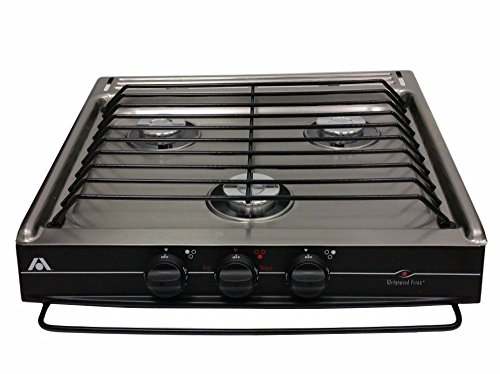 ATWOOD 52182 WEDGEWOOD 3 BURNER STAINLESS STEEL MATCH LIGHT SLIDE-IN COOK TOP
