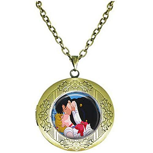 Sailor Moon & Tuxedo Mask Kiss Locket Necklace