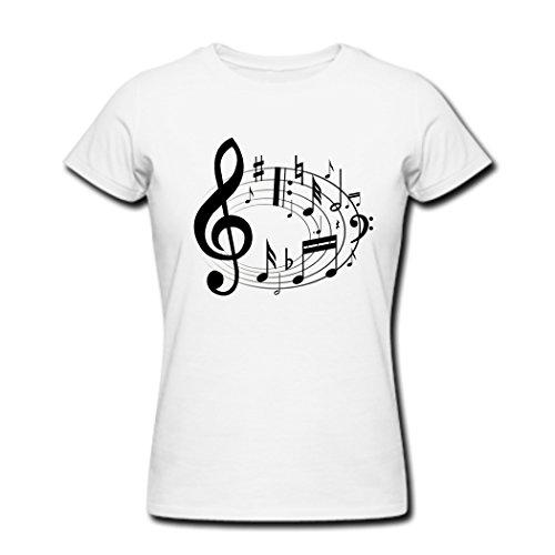 America's Got Hallowen Women's music notes Clip art T-Shirts White M -