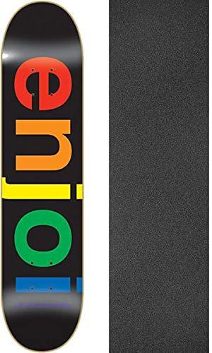 堤防八百屋説明エンジョイスケートボードスペクトラムブラックスケートボードDeck – 8.25