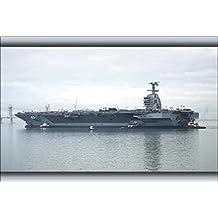 16x24 Poster; U.S. Navy Aircraft Carrier Uss Gerald R. Ford (Cvn-78)