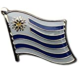 "Uruguay Flag Lapel Pin by Backwoods Barnaby (Uruguayan broach, 0.75"" x 0.75"")"