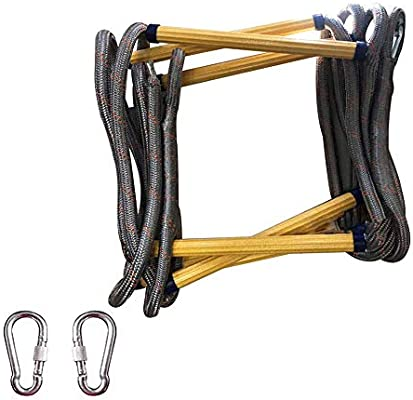 Escape Cuerda Escalera Resistencia Resistente al fuego Seguridad Cuerdas de cuerda Trabajo aéreo Escalada Rescate colgante,25m(984inch): Amazon.es: Bricolaje y herramientas