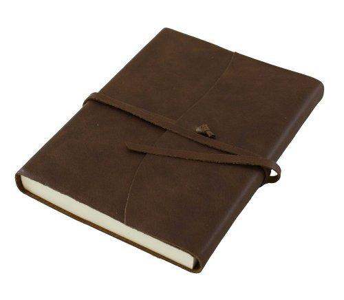 Amalfi Chocolate Brown Luxury Handmade Italian Leather Journal - 13 x 17 (Luxury Handmade Chocolates)