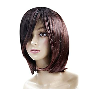 Amazon No Cover Short Brown Waves Of High Quality Synthetic