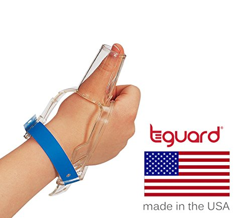 Treatment Kit to Stop Thumb Sucking by TGuard brand ThumbGuard (Medium (Ages 5-6)) (Rock Pacifier On)