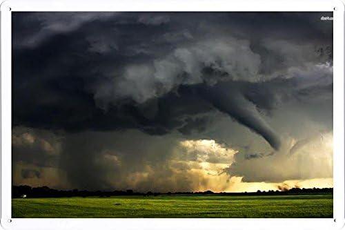 Amazon.com: Estaño Signo Cartel # 14032 Tornado (20 x 30 cm ...