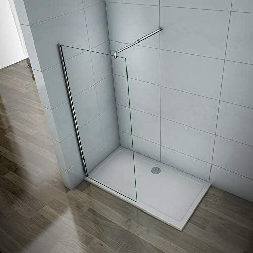 Mamparas de ducha Frontales Puerta fijo Cristal 6mm Antical Barra 70-120cm 65x185cm: Amazon.es: Bricolaje y herramientas