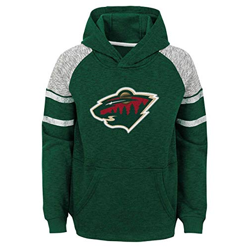 (Minnesota Wild Youth NHL Left Winger Hooded Pullover - Green, Youth)