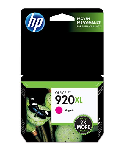 HP 920XL Magenta High Yield Original Ink Cartridge (CD973AN) (Officejet Wireless 6000 Hp)
