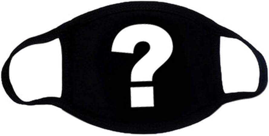 Máscaras de algodón unisex, color negro sólido, media cara, boca, boca, negro: Amazon.es: Hogar