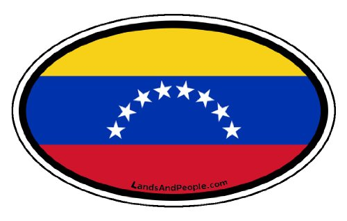 Venezuela Flag Car Bumper Sticker Decal Oval -