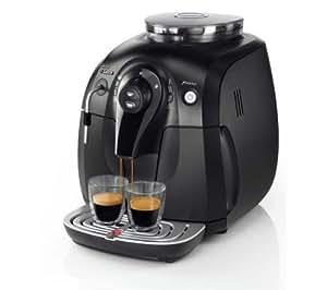 Philips Saeco Xsmall Cafetera automática expreso HD8743/13 Espumador de leche clásico negro