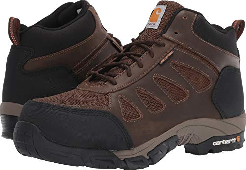 (Carhartt Men's Lightweight Wtrprf Mid-Height Work Hiker Carbon Nano Safety Toe CMH4480 Industrial Boot Dark Brown Leather/Nylon 11 M)