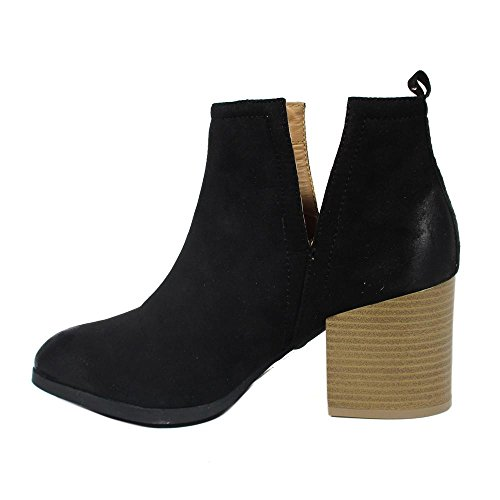 Booties Black EDITION Toe Fashion NEW Alandra WOMENS Synthetic Ankle Pointy Stacked Almond Heel ZqFvdw7x