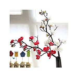 Plum Cherry Blossoms Artificial Silk Flowers Flores Sakura Tree Branches Home Table Living Room Decor DIY Wedding Decoration 119