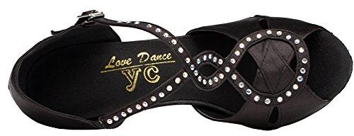 Abby Yfyc-l156 Da Donna Scarpe Da Ballo Latino Tango Da Ballo Per Tango Latino Professionale Tacco Nero