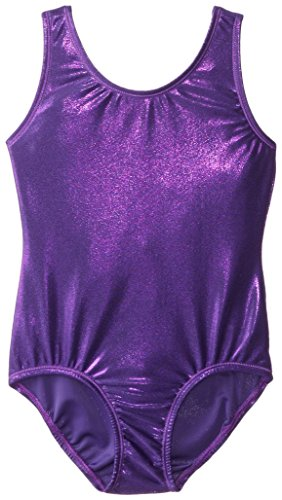 - Danskin Little Girls' Gymnastics Solid Sparkle Leotard,Purple,Small (4/6)