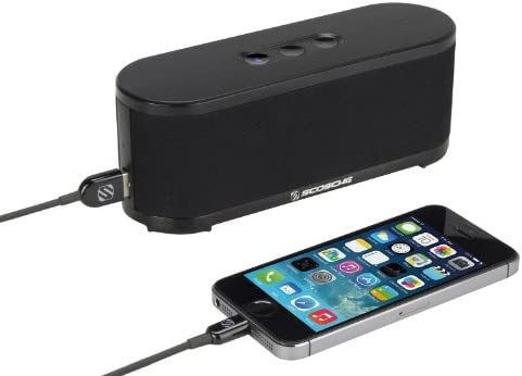 Bluetooth Car Kit Black Scosche btspk2 boomSTREAM Bluetooth Media Speaker Retail Packaging