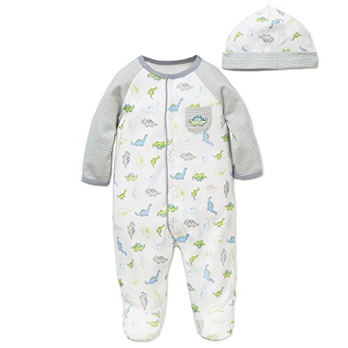 Little Me Baby Boys' Footies, White Print, New Born]()