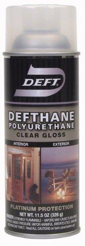 Deft Defthane Interior Exterior Clear Polyurethane Gloss Spray, 11.5-Ounce Aerosol