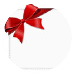 alfombrilla de ratón tarjeta blanca con cintas - ronda - 20cm