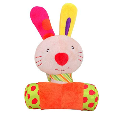 Used, AMOFINY Toys Bbsky Newborn Cartoon Animal Rattle Stick for sale  Delivered anywhere in USA