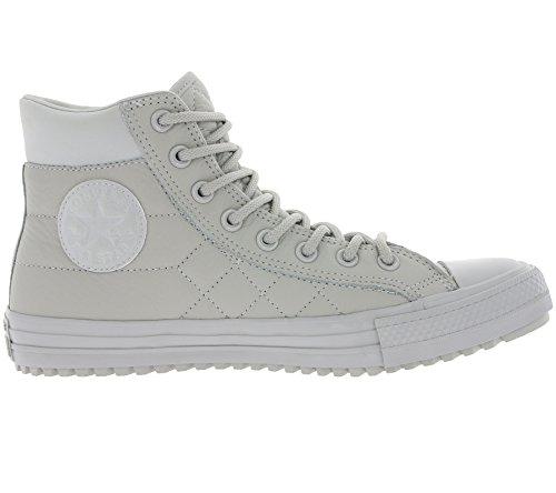 Converse Mens Chuck Taylor All Star Boot Pc Rivestito In Pelle Hi Grigio Cenere
