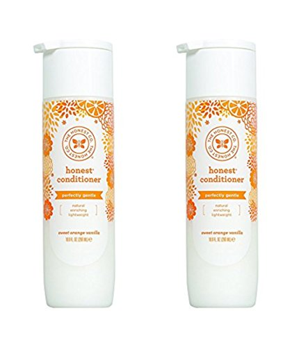 Honest Perfectly Gentle Hypoallergenic Conditioner With Naturally Derived Botanicals, Sweet Orange Vanilla, 10 Fluid Ounce (Pack Of 2)