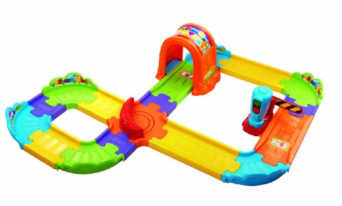 Vtech - Toot Toot Drivers - Deluxe Train Track Set - Tchou Tchou Bolides Version Anglaise