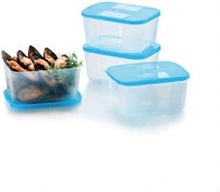 Tupperware freezermate pequeño II (4) 650 ml congelador mate (azul ...