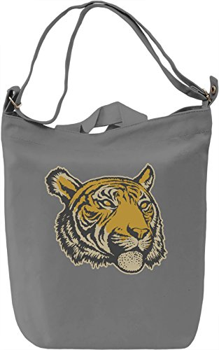 Tiger head Borsa Giornaliera Canvas Canvas Day Bag| 100% Premium Cotton Canvas| DTG Printing|