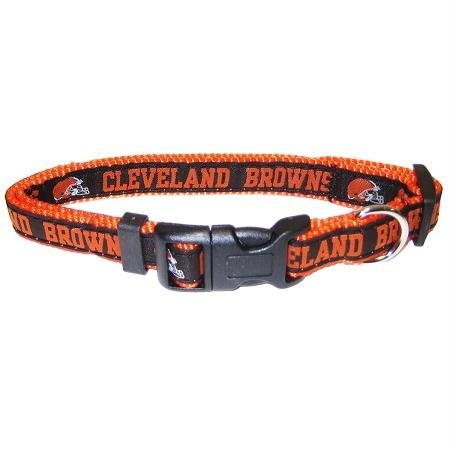 Browns Dog Collar Cleveland (Pets First NFL Cleveland Browns Collar, Small)