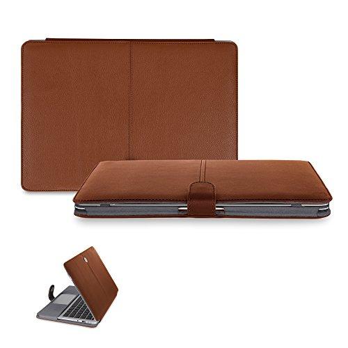 Cheap 13 inch Macbook Pro CaseCrown Elite Folio Book Cover Case (Brown) for cheap