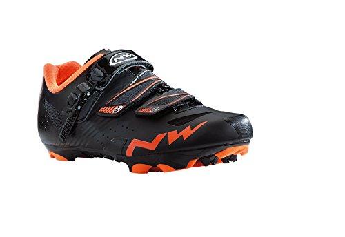 Northwave MARTILLO S.R.S. Zapatos de bicicletas de montaña SPD negro-naranja, schuhgröße:gr. 43