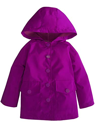 (YNIQ Little Kids Waterproof Lightwight Coat Jacket Raincoat with Hooded for Big Girls)