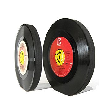 (Recycled 45 rpm Vinyl Record Bookends)