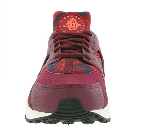 Nike Damen Wmns Air Huarache Run Print Turnschuhe Rojo (Deep Garnet / Bright Crimson)