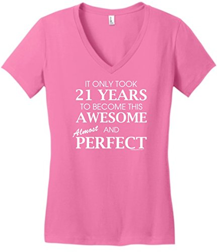 21 Year Old Birthday Gifts 21st Birthday Gifts For All Awesome Almost Perfect Juniors Vneck Small TrPnk (Gifts Birthday 21st Awesome)