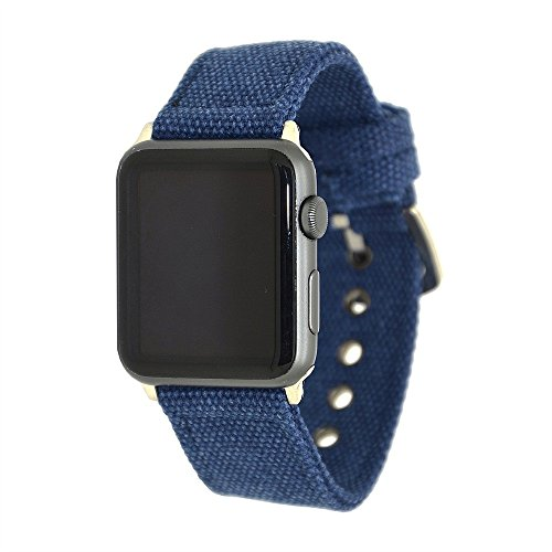 For Apple Watch Bracelet Band 42mm, Choosebuy Soft Durable Canvas Double Clasp Agjustable Replacement Bangles Wristband Women Men Strap For Apple Watch Series 3/2/1 ()
